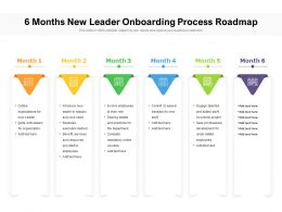 6 Months New Leader Onboarding Process Roadmap