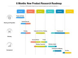 6 Months New Product Research Roadmap