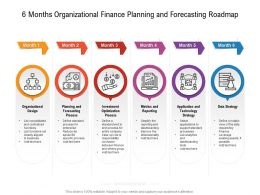 6 Months Organizational Finance Planning And Forecasting Roadmap