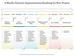 6 Months Payment Implementation Roadmap For New Project