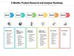 6 Months Product Research And Analysis Roadmap
