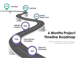 6 Months Project Timeline Roadmap