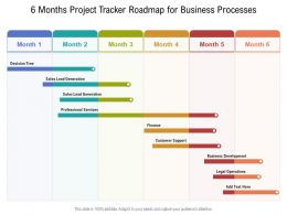 6 Months Project Tracker Roadmap For Business Processes