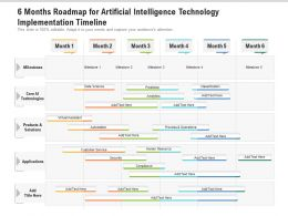 6 Months Roadmap For Artificial Intelligence Technology Implementation Timeline