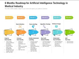 6 Months Roadmap For Artificial Intelligence Technology In Medical Industry