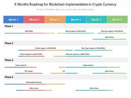 6 Months Roadmap For Blockchain Implementation In Crypto Currency