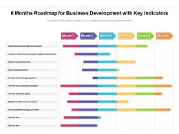 6 Months Roadmap For Business Development With Key Indicators