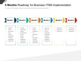 6 Months Roadmap For Business ITSM Implementation