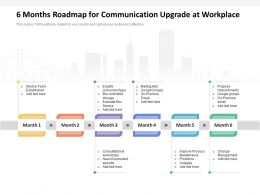 6 Months Roadmap For Communication Upgrade At Workplace