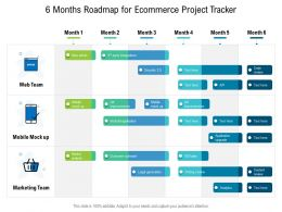 6 Months Roadmap For Ecommerce Project Tracker