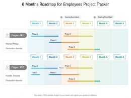 6 Months Roadmap For Employees Project Tracker