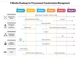 6 Months Roadmap For Procurement Transformation Management