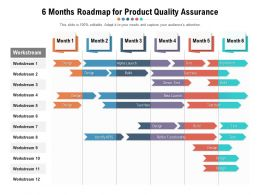 6 Months Roadmap For Product Quality Assurance