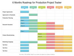 6 Months Roadmap For Production Project Tracker