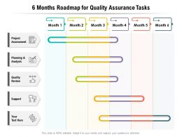 6 Months Roadmap For Quality Assurance Tasks