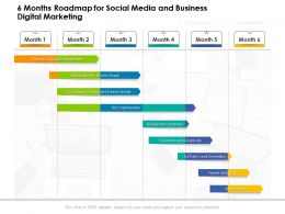 6 Months Roadmap For Social Media And Business Digital Marketing