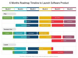 6 Months Roadmap Timeline To Launch Software Product