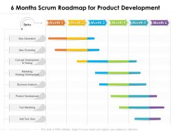 6 Months Scrum Roadmap For Product Development