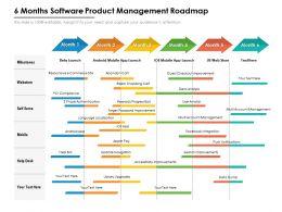 6 Months Software Product Management Roadmap