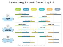 6 Months Strategy Roadmap For Transfer Pricing Audit