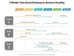 6 Months Team Based Roadmap For Business Branding
