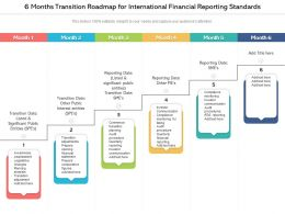 6 Months Transition Roadmap For International Financial Reporting Standards