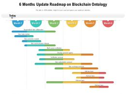 6 Months Update Roadmap On Blockchain Ontology