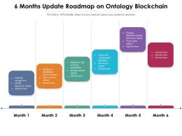 6 Months Update Roadmap On Ontology Blockchain