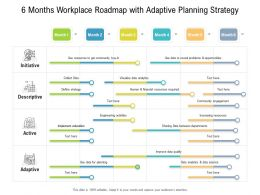 6 Months Workplace Roadmap With Adaptive Planning Strategy