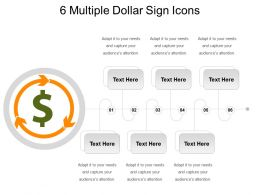 6 Multiple Dollar Sign Icons Powerpoint Themes