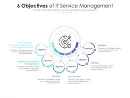 6 Objectives Of IT Service Management