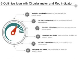 6 Optimize Icon With Circular Meter And Red Indicator