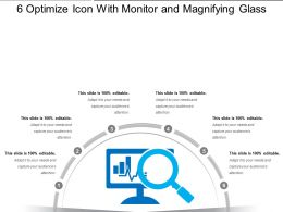 6 Optimize Icon With Monitor And Magnifying Glass
