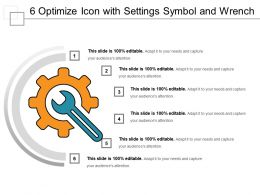 6 Optimize Icon With Settings Symbol And Wrench