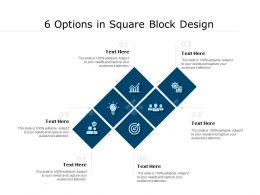 6 Options In Square Block Design