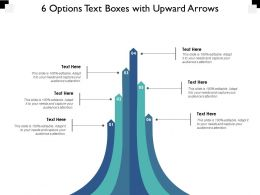 6 Options Text Boxes With Upward Arrows