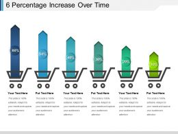 6 Percentage Increase Over Time Ppt Background