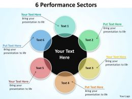 6 performance sectors flow diagrams templates 1