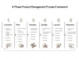6 Phase Product Management Process Framework