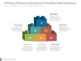 6 Phases Of Business Development Powerpoint Slide Influencers