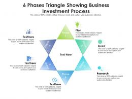 6 Phases Triangle Showing Business Investment Process