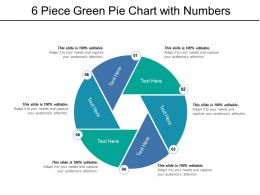 6 Piece Green Pie Chart With Numbers