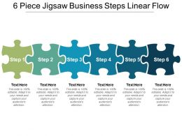 6 Piece Jigsaw Business Steps Linear Flow