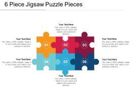 6 Piece Jigsaw Puzzle Pieces