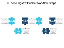 6 Piece Jigsaw Puzzle Workflow Steps