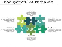 6 Piece Jigsaw With Text Holders And Icon