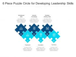 6 Piece Puzzle Circle For Developing Leadership Skills