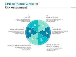 6 Piece Puzzle Circle For Risk Assessment