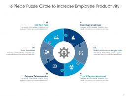6 Piece Puzzle Circle To Increase Employee Productivity