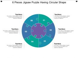 6 Pieces Jigsaw Puzzle Having Circular Shape